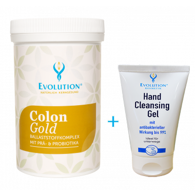 Colon Gold Pulver + Hand Cleansing Gel gratis
