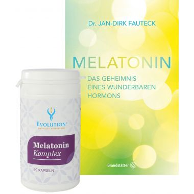 Set: Melatonin book Dr. Jan-Dirk Fauteck, 224 pages + melatonin capsules