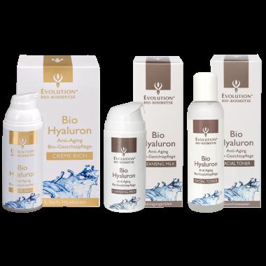 Bio Hyaluron Creme Rich+Bio Hyaluron Cleansing Milk+Bio Hyaluron Facial Toner