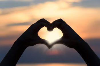 Schattenbild Herz
